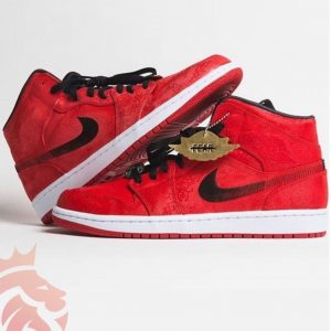 Air Jordan 1 Mid Fearless x CLOT Red Silk Chinese New Year
