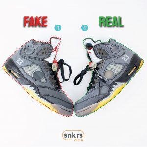 Real Vs Fake: Air Jordan 5 Retro x Off-White