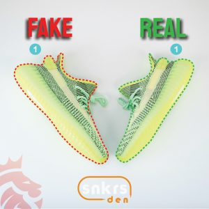 "Real Vs Fake: adidas Yeezy Boost 350 V2 ""Yeezreel"""