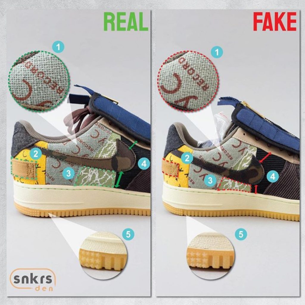 Real Vs Fake Travis Scott