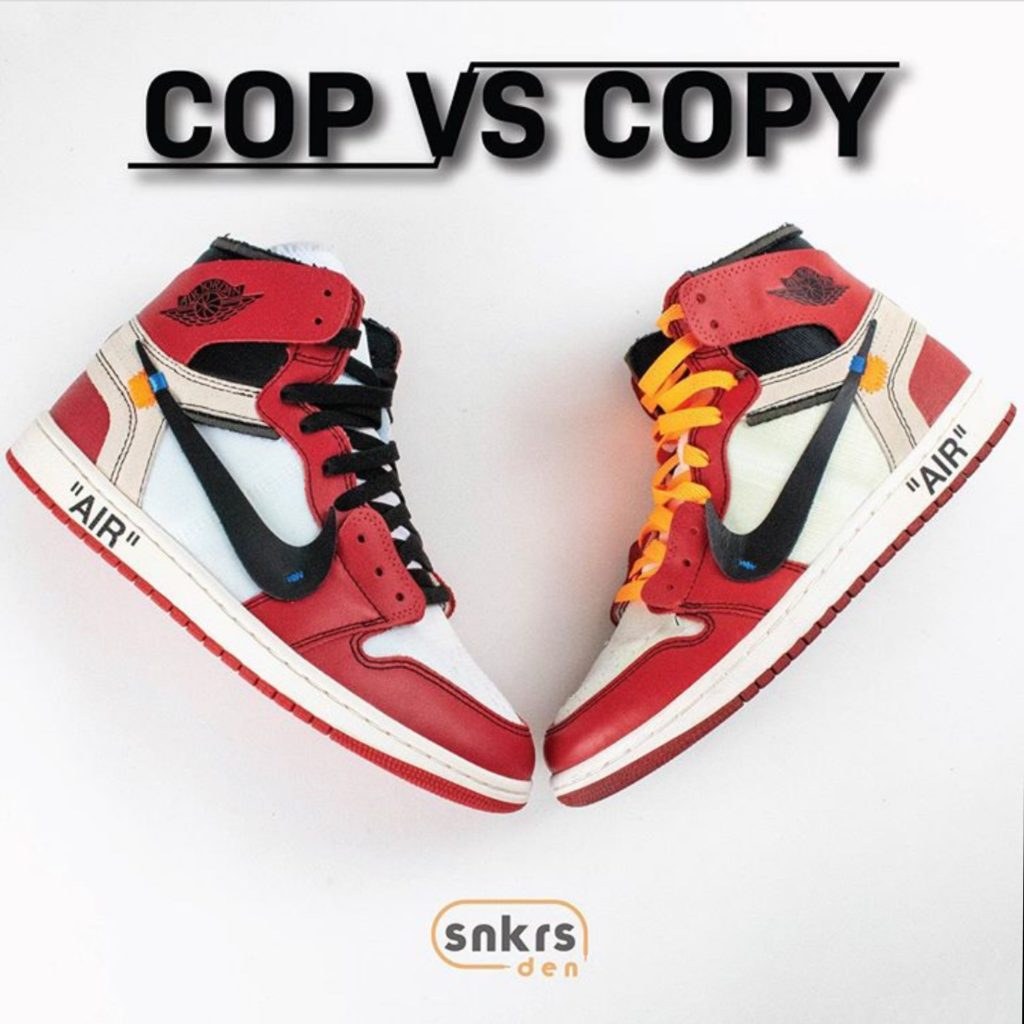 "Real Vs Fake: OFF-WHITE x Air Jordan 1 Retro High OG ""Chicago"""