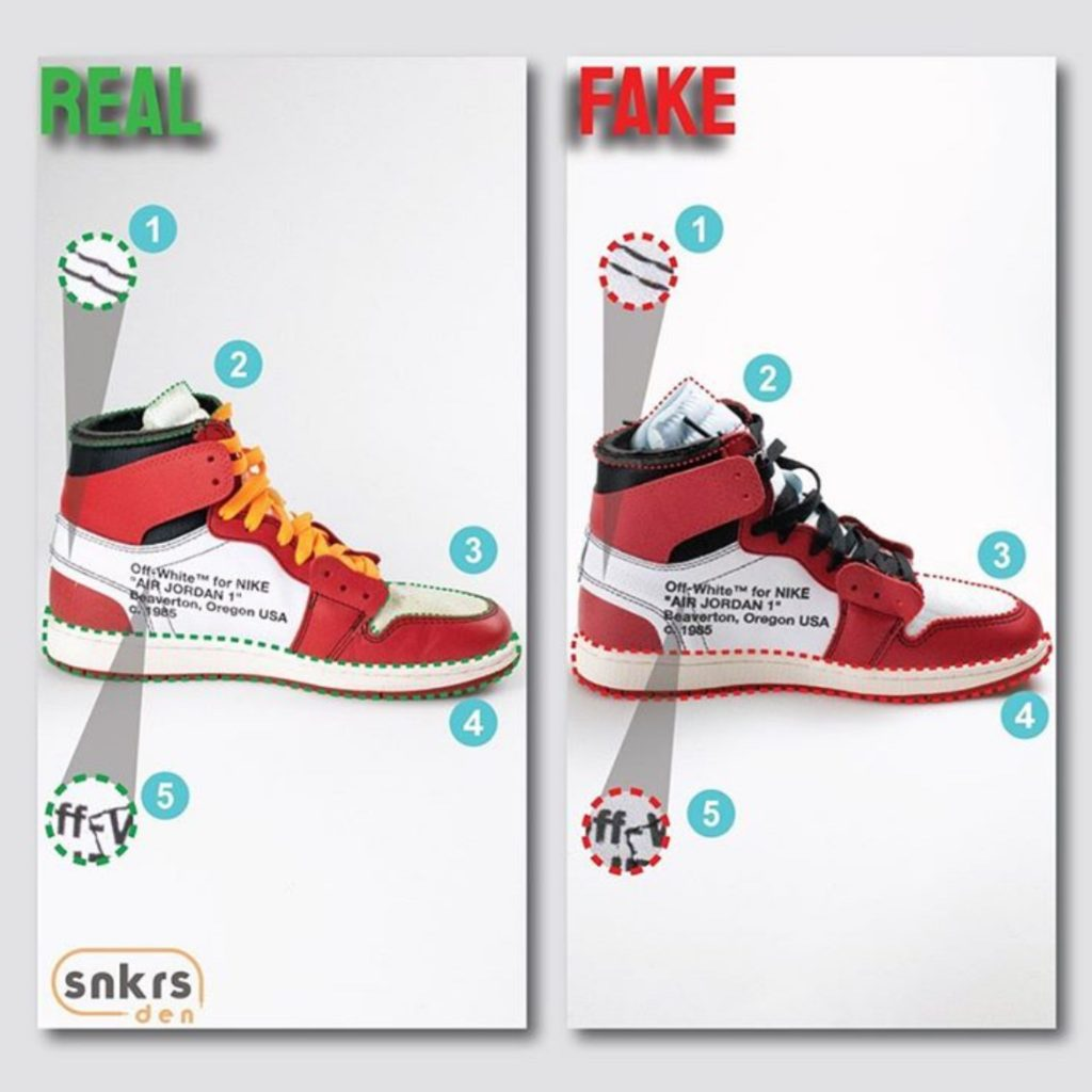 Real Vs Fake: Off-White x Air Jordan