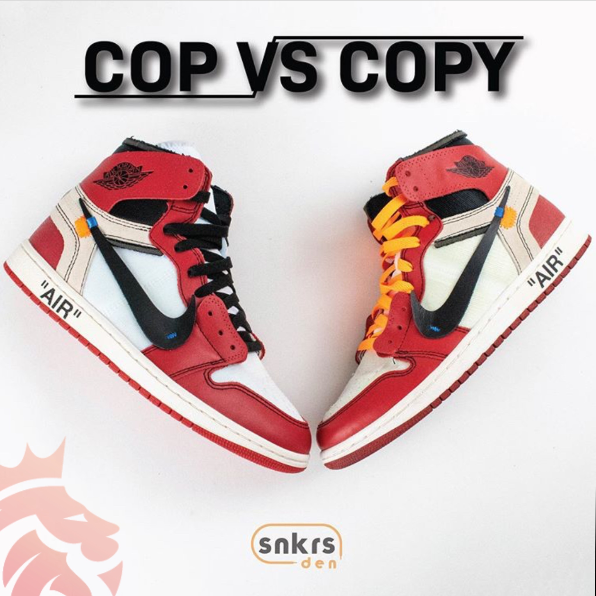 Real Vs Fake: Off-White x Air Jordan 1 Retro High OG