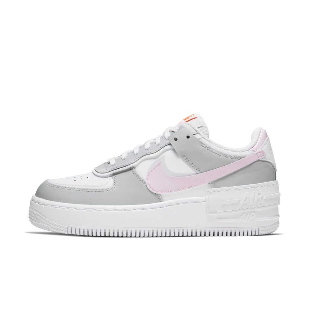 Lateral view of the upcoming AF1 Shadow Pastel Pink