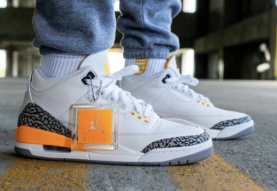 Yankeekicks On Foot Jordan 3 WMNS Laser Orange CK9246-108