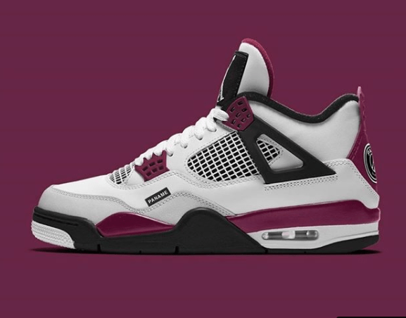 PSG x Air Jordan 4 Bordeaux CZ5624-100