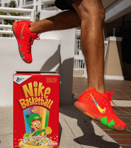 Yankeekicks On Foot Nike Kyrie 4 'Lucky Charms'