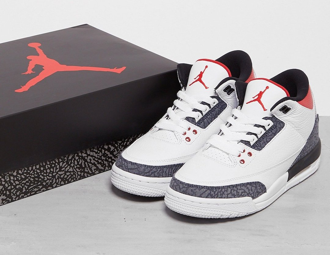 Air Jordan 3 SE Denim Fire Red