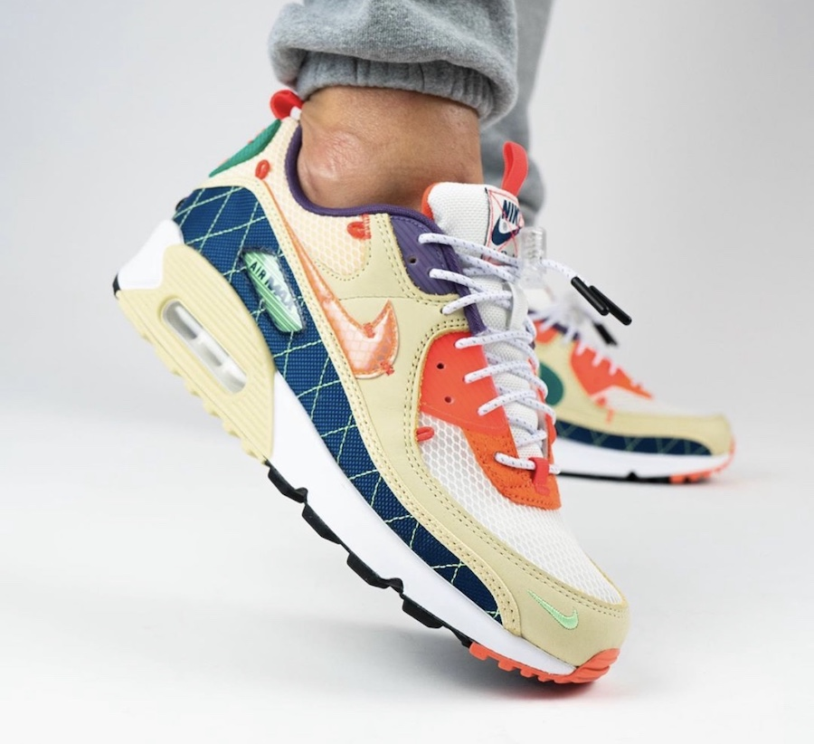 Yankeekicks On Foot Nike Air Max 90 Trail Multi Color