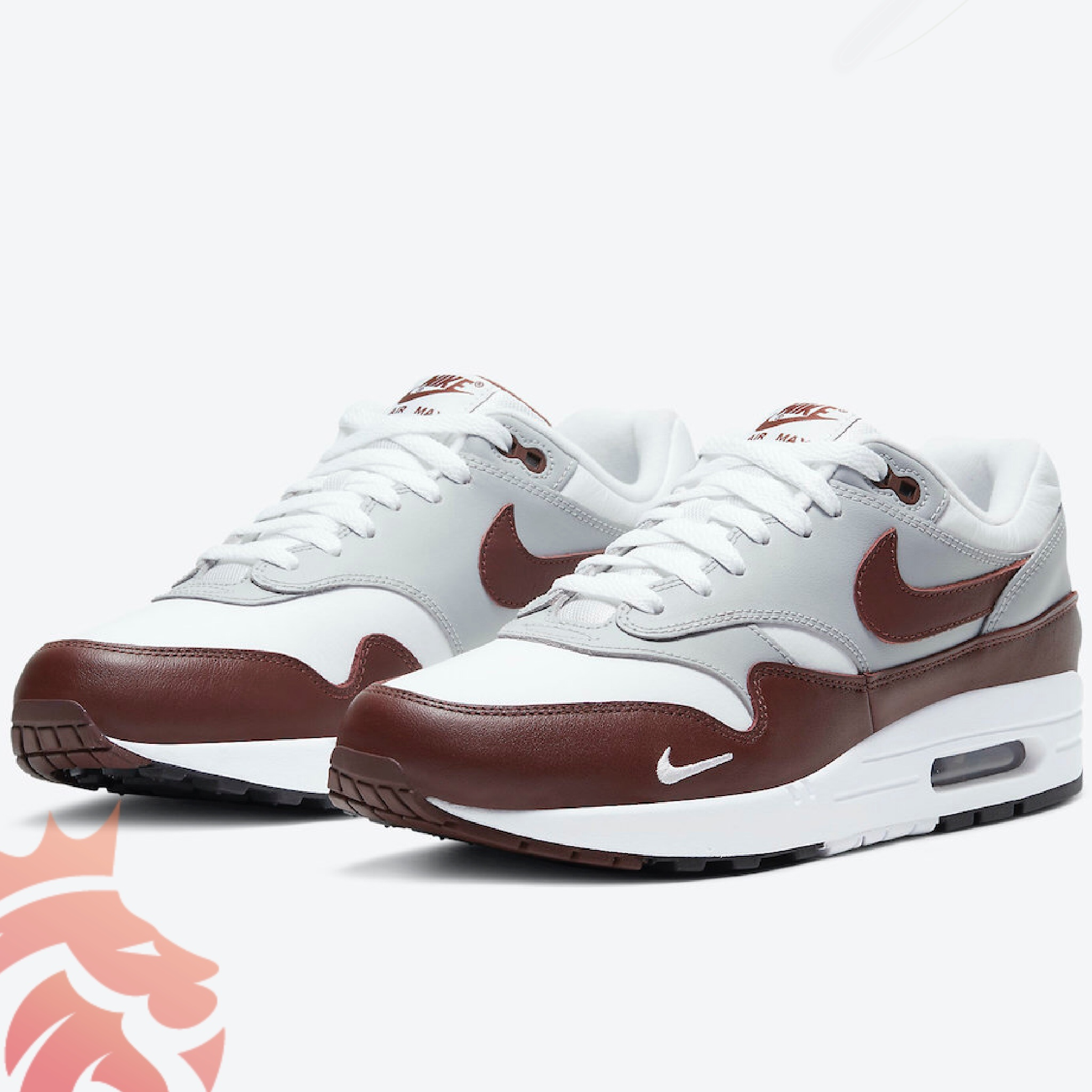 Nike Air Max 1 Brown Leather DB5074-101 Summit White/Brown/Soft Grey