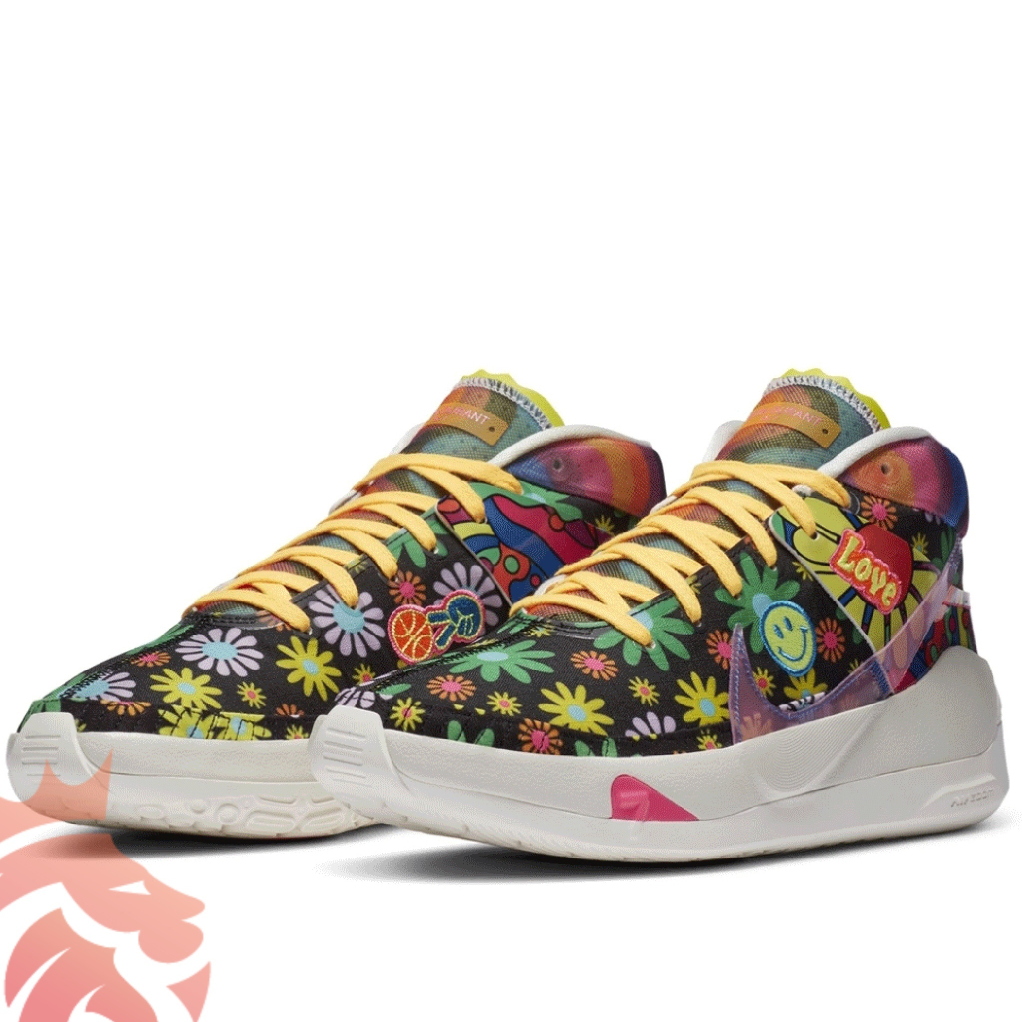 "Kevin Durant Nike KD 13 ""Peace, Love, And Basketball"" CI1474-001 Black/White/Multi-Color CI1474-001"
