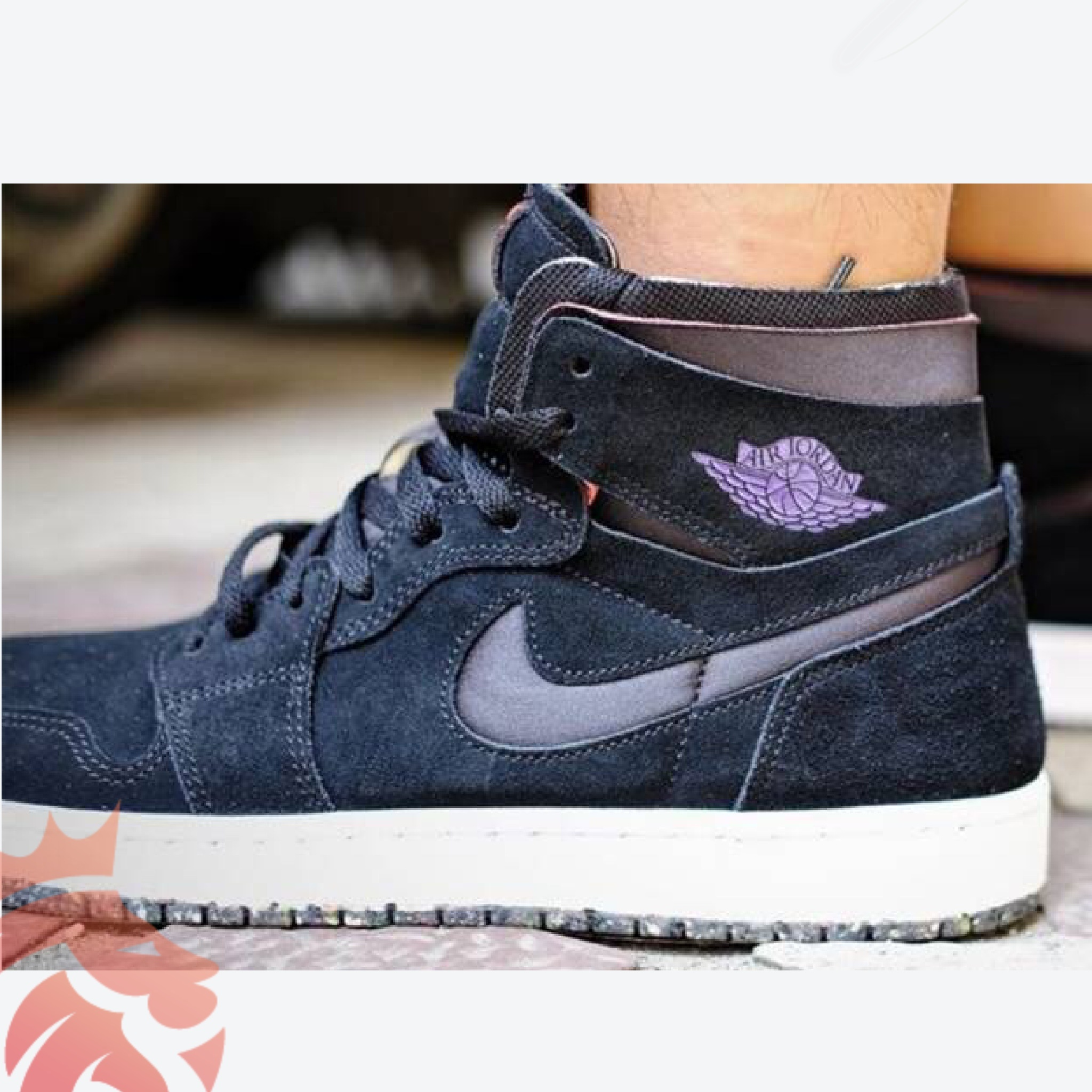 AJ 1 High Zoom Crater Court Purple