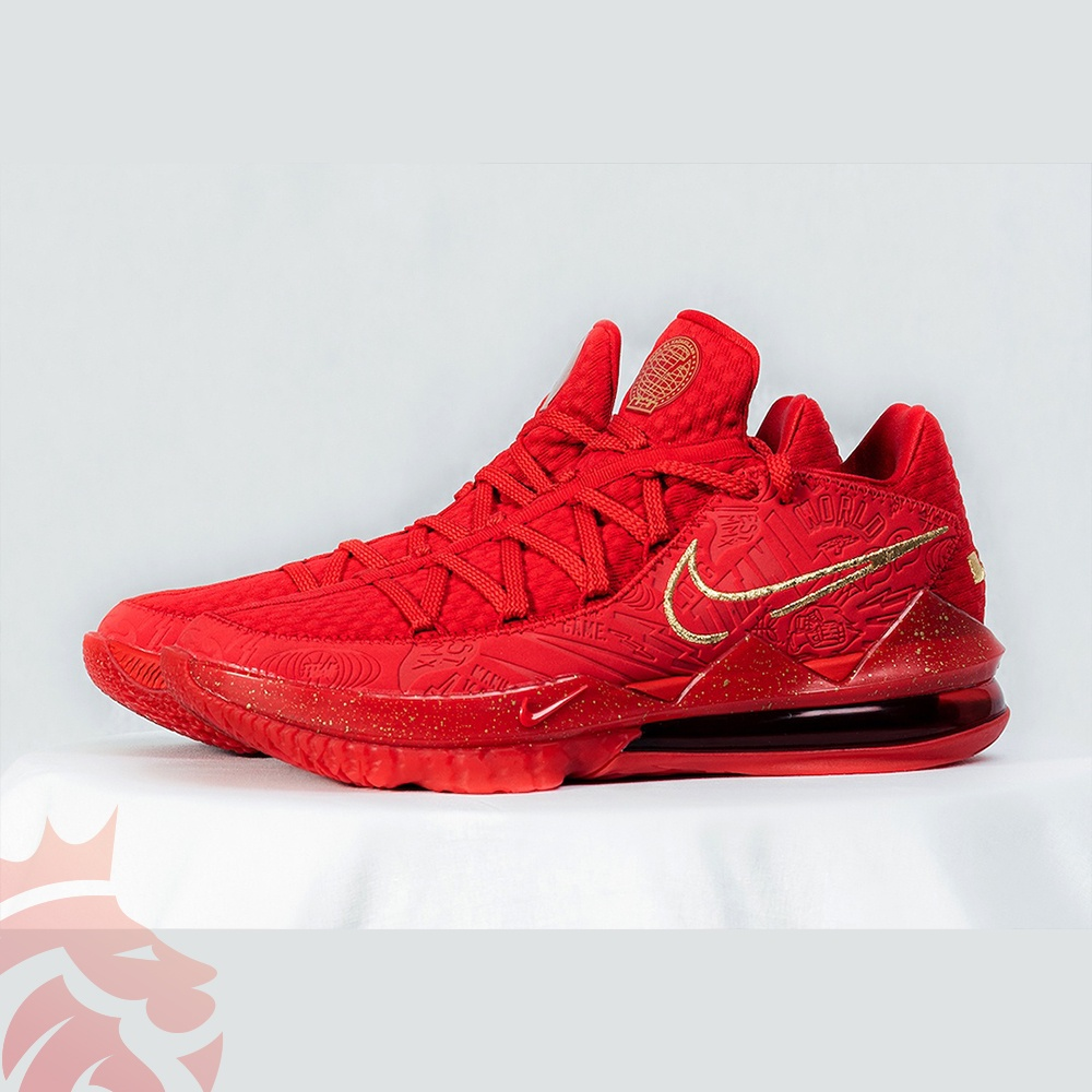 Titan x Nike LeBron 17 Low Agimat CD5008-600 University Red/Metallic Gold