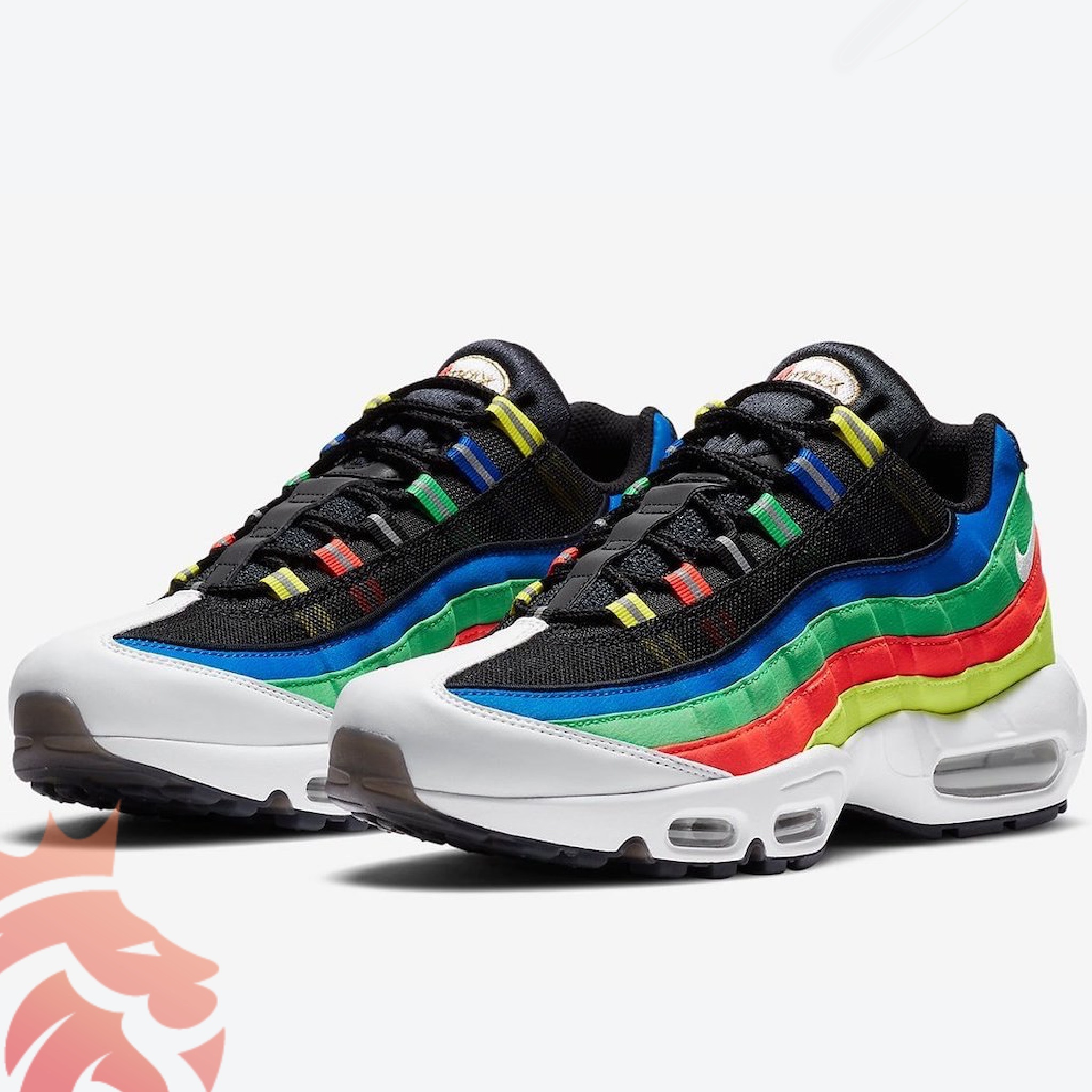 Nike Air Max 95 Olympic DA1344-014 Black/White-Racer Blue-Green Spark