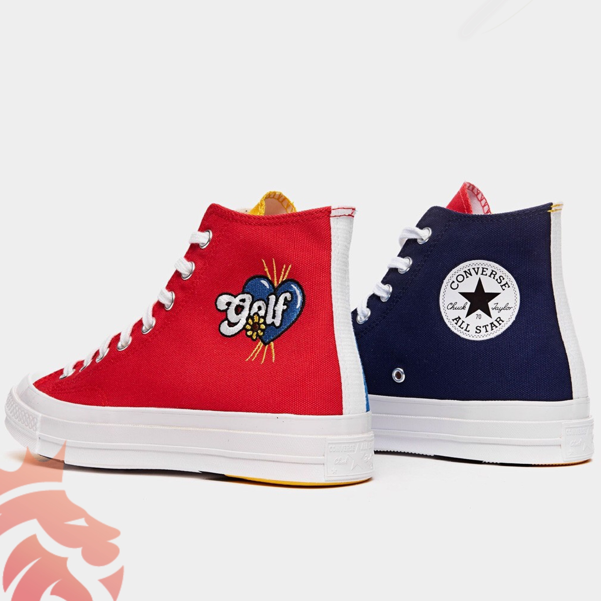 GOLF WANG x Converse Chuck 70 Hi Tri-Panel 169910C Blue/Yellow/Red/Navy/White