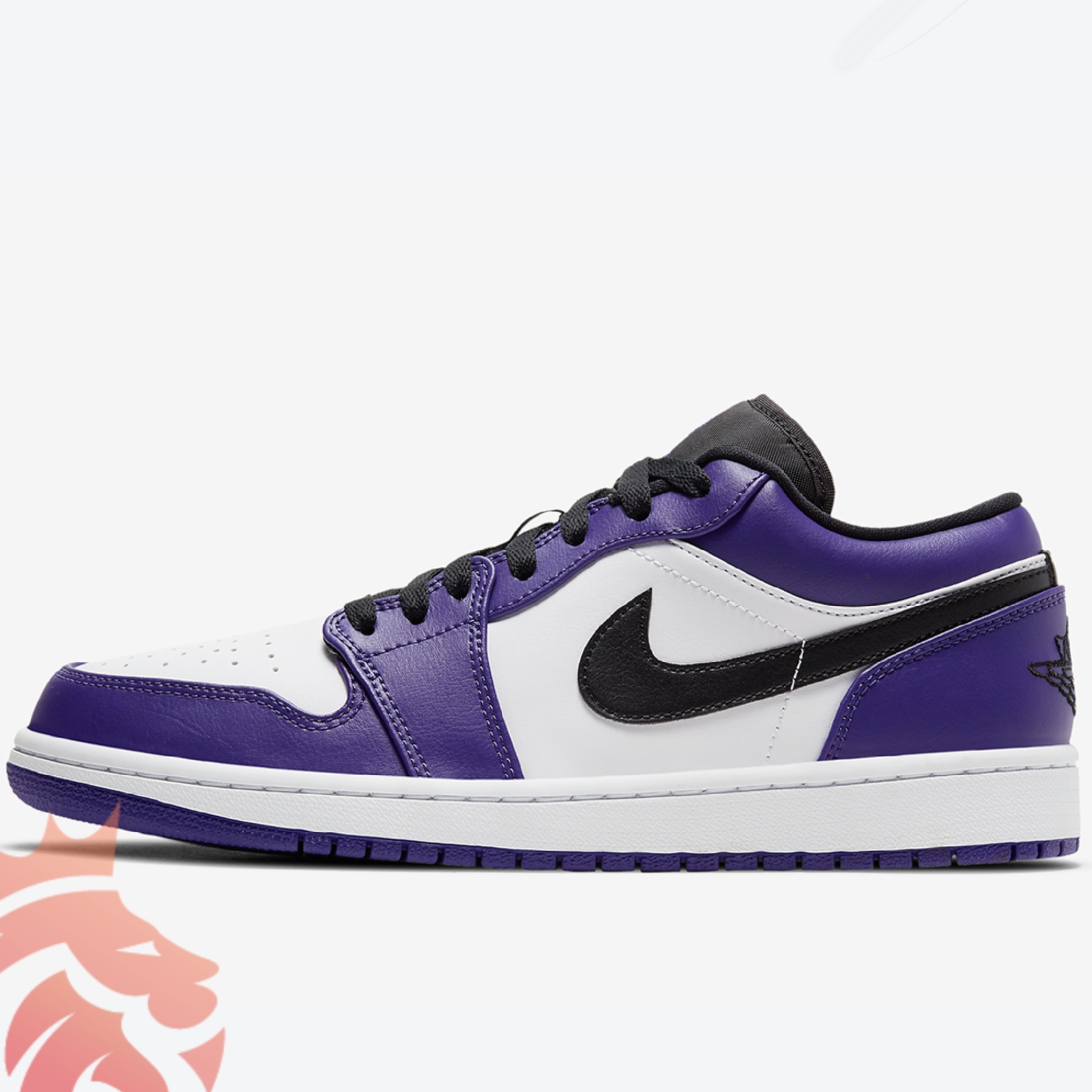 Air Jordan 1 Low 553558-500 White/Court Purple/Black/University Red