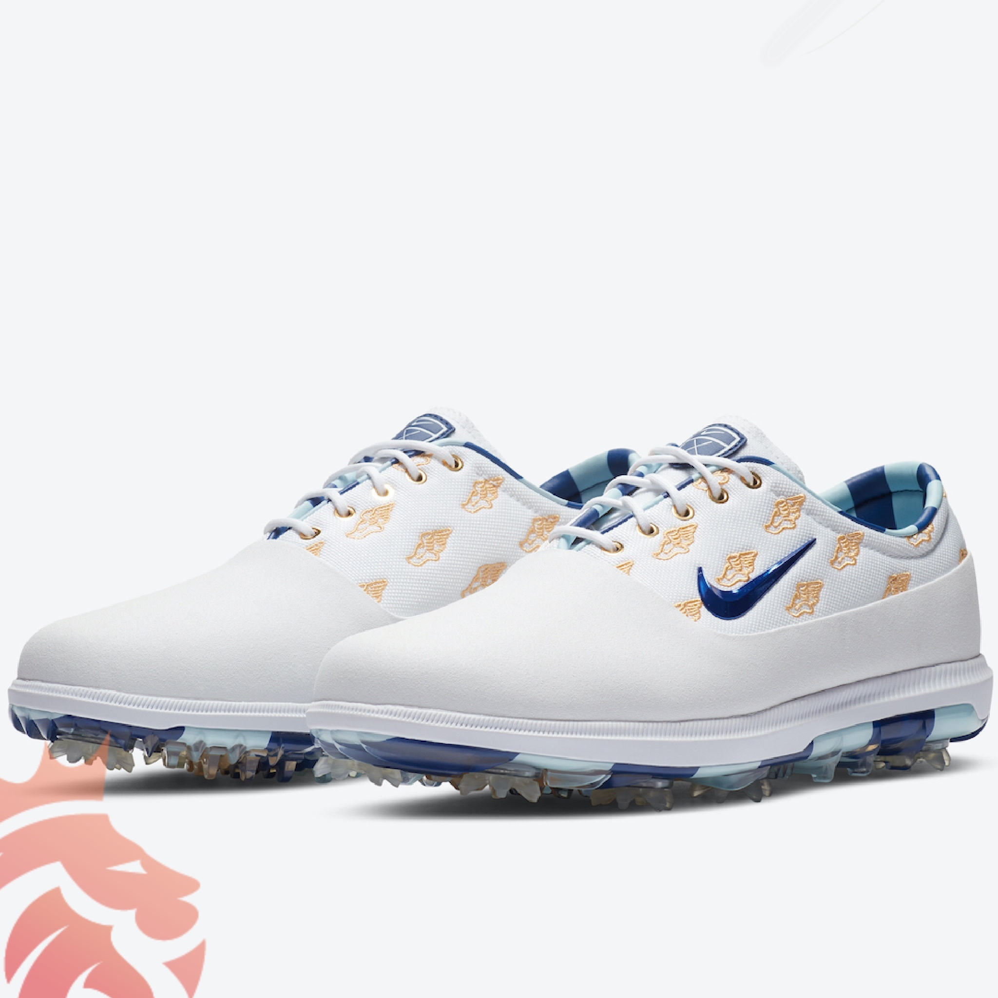 "Nike Zoom Victory Tour Golf ""Wing It"" CK1213-100 White/Ice Blue/Grape Ice/Gold"