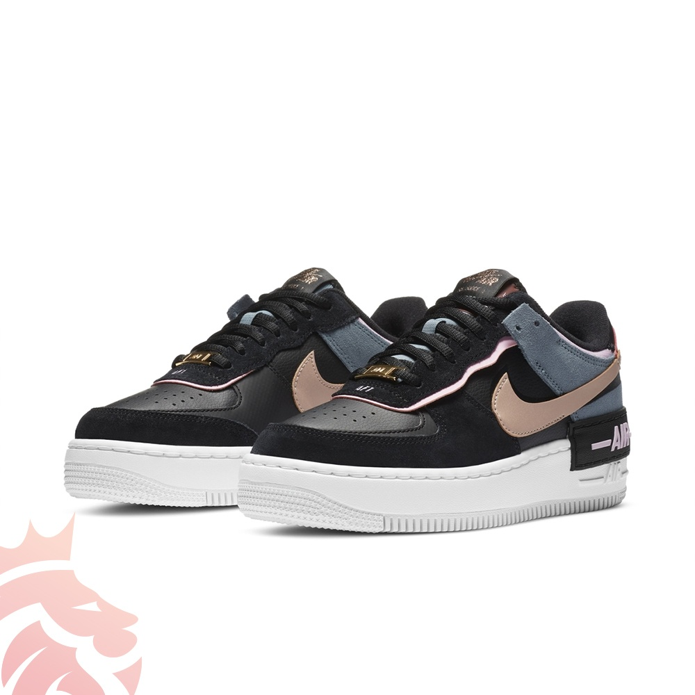 Nike WMNS Air Force 1 Shadow CU5315-001 Black/Metallic Red Bronze/LT Arctic Pink