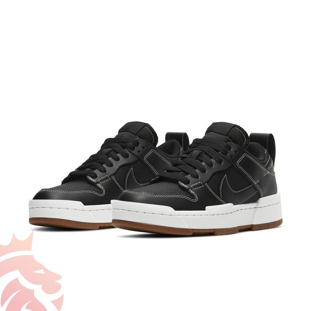 WMNS Nike Dunk Low Disrupt CK6654-002 Black/Black/White/Gum