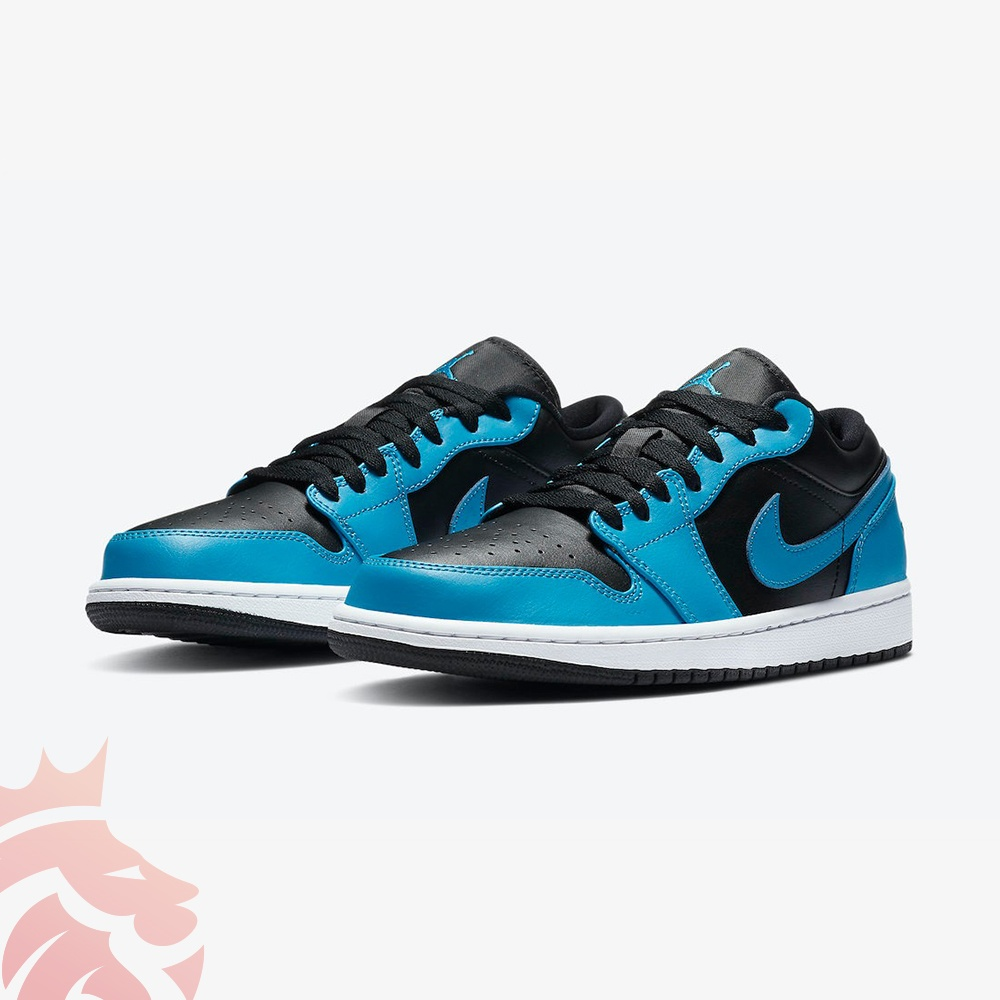 Air Jordan 1 Low 553558-410 Black/Laser Blue-White