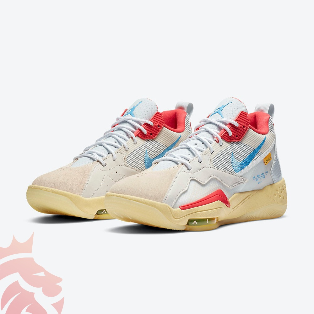 Union x Jordan Zoom 92 DA2553-800 Guava Ice/Light Bone-Brigade Blue-Light Fusion Red