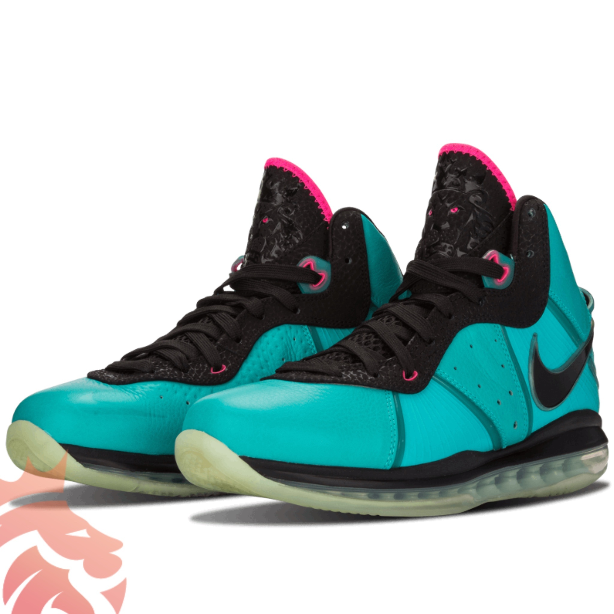 Nike LeBron 8 South Beach Z0328-400 Retro/Pink Flash-Filament Green-Black