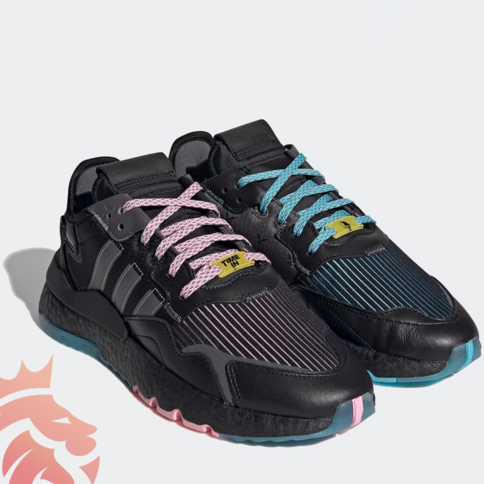 Ninja x adidas Nite Jogger Time In Q47198 Core Black/Grey-Blue Glow