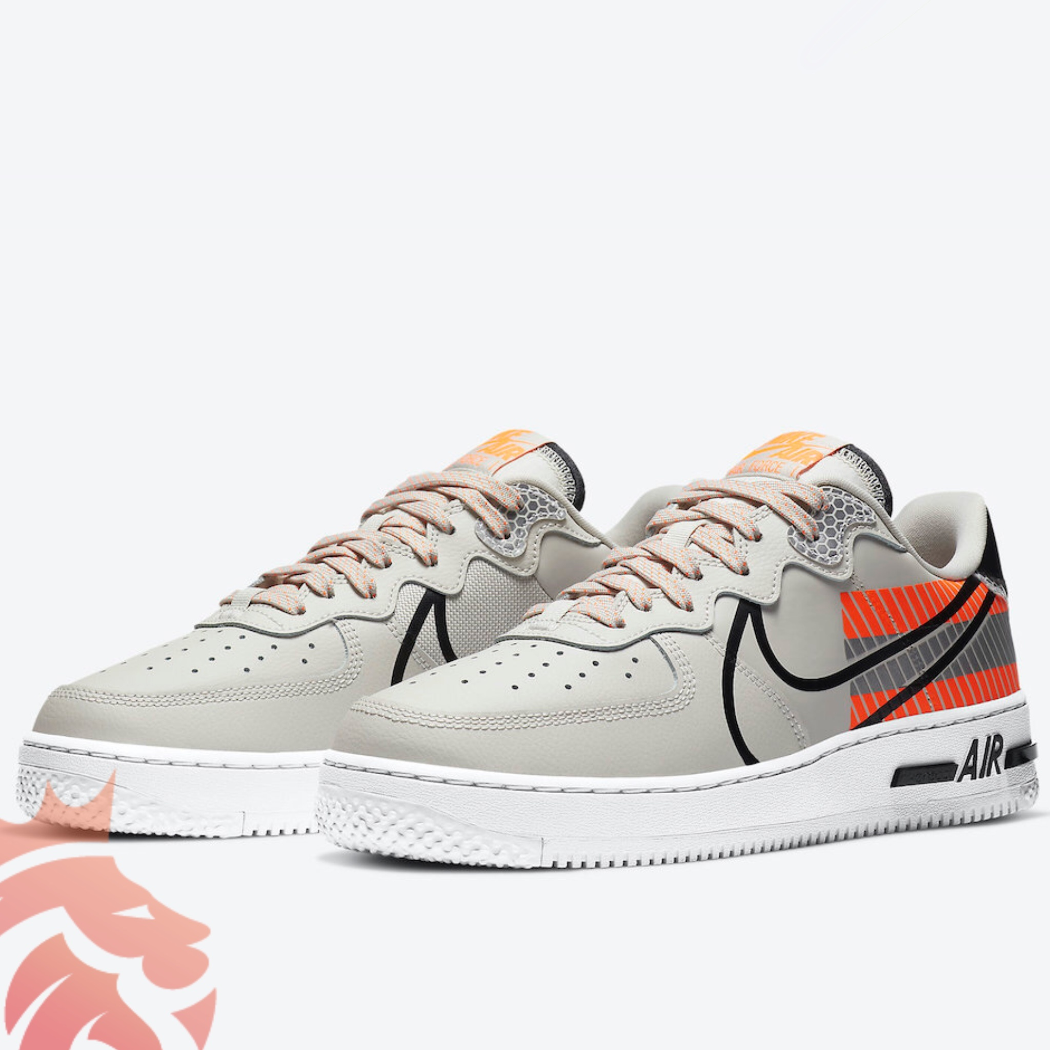 3M x Nike Air Force 1 React CT3316-002 Grey/Orange/Black