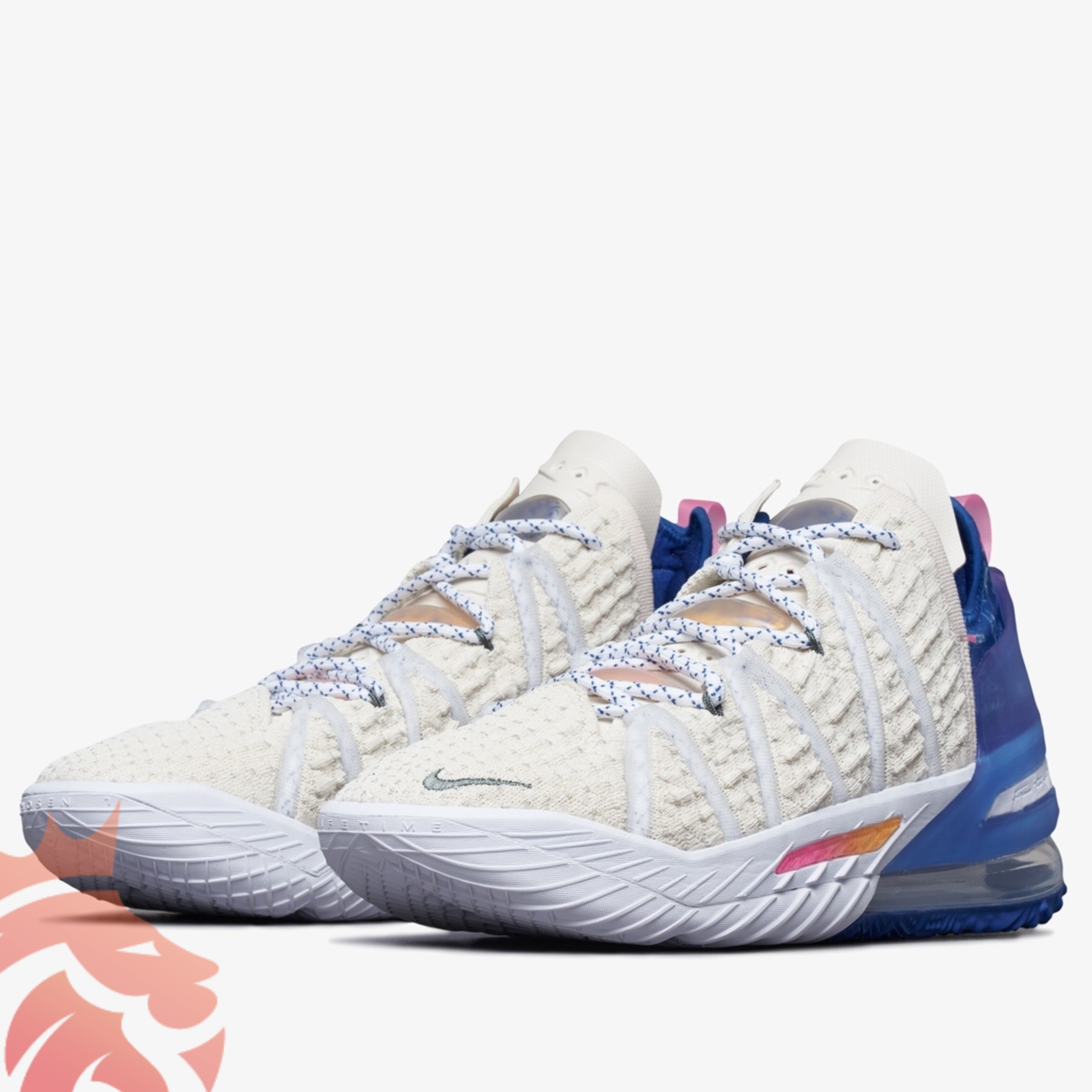 Nike LeBron 18 Light Cream/Pink Glow/Game Royal