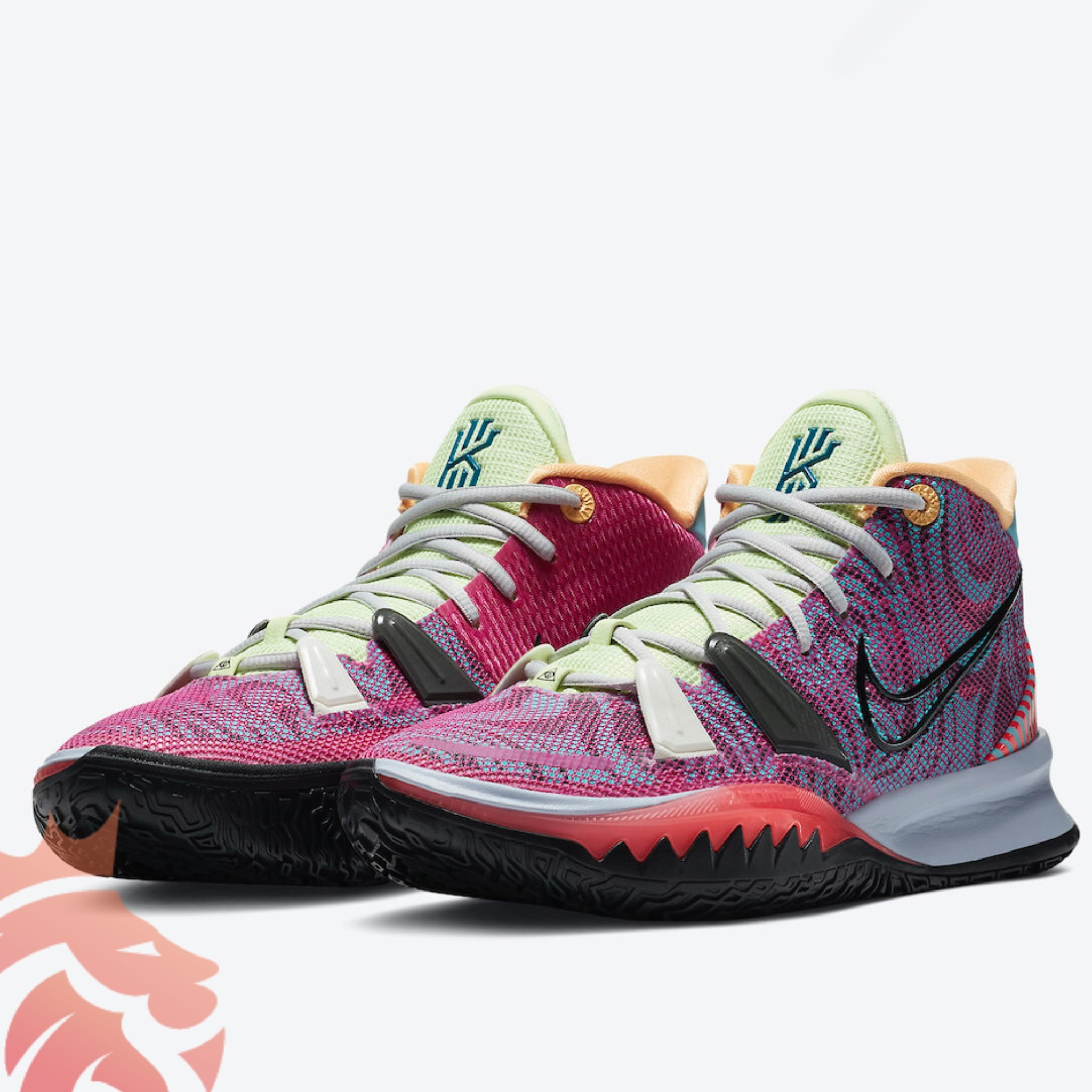 Nike Kyrie 7 Hendrix DC0589-601 Active Fuchsia/Black-Ghost-Multi-Color