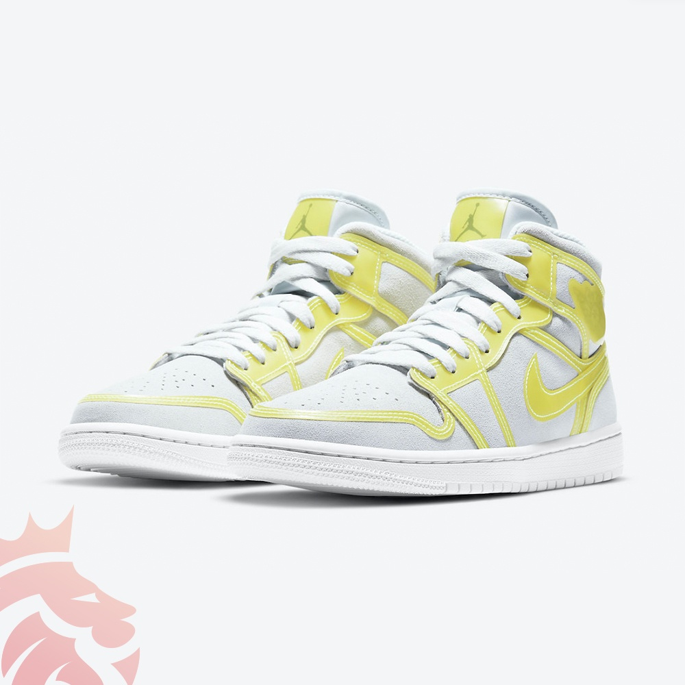 Air Jordan 1 Mid LX Opti Yellow DA5552-107 Off-White/Opti Yellow-White