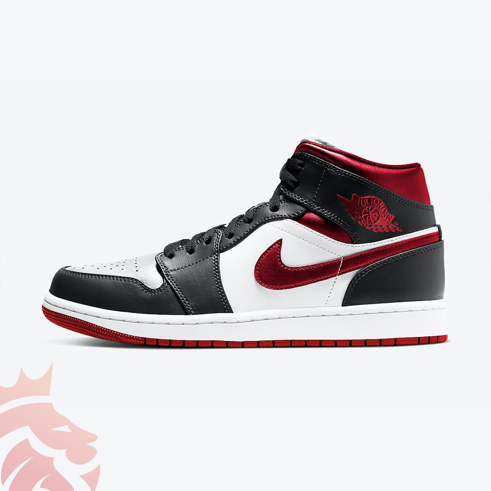 Air Jordan 1 Mid Metallic Red 554724-122 White/Gym Red-Black