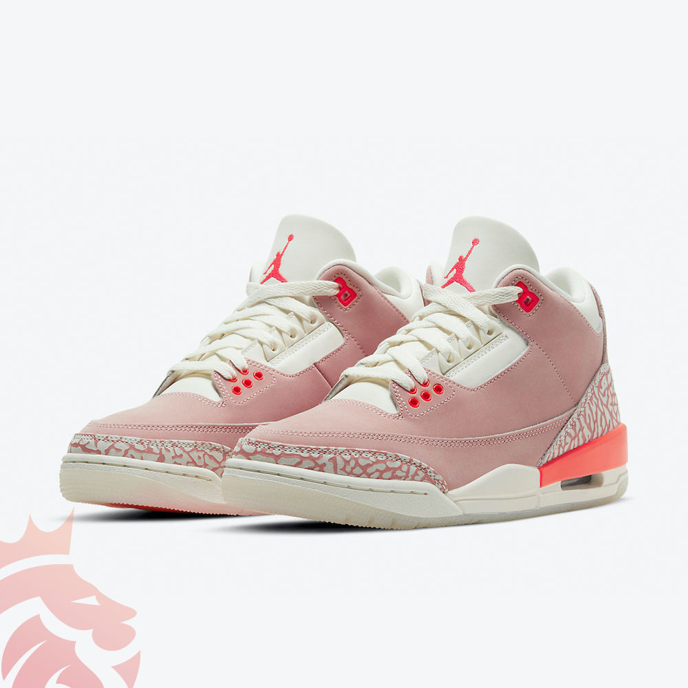 Air Jordan 3 WMNS CK9246-600 Sail/Rust Pink/White/Crimson