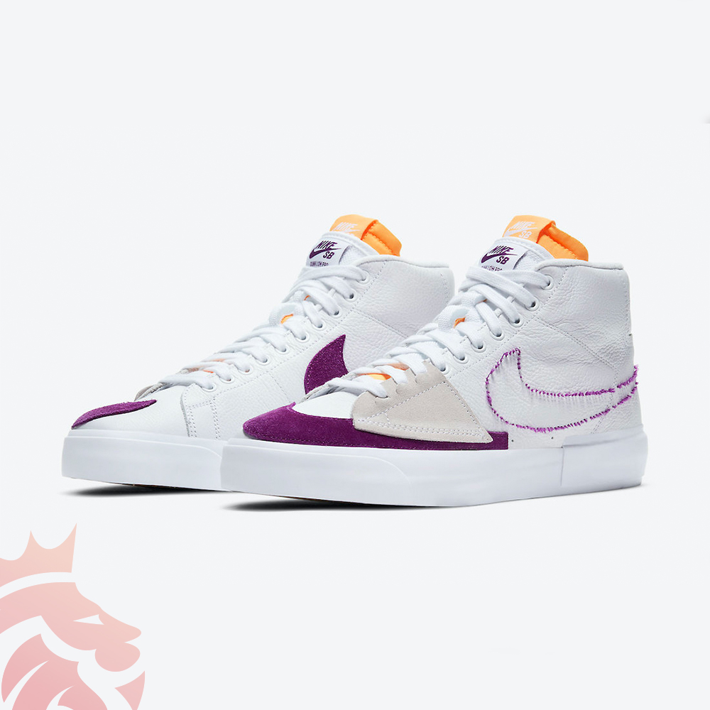 Purple and Gold Nike SB Blazer Mid Edge DA2189-100 Release Info YankeeKicks