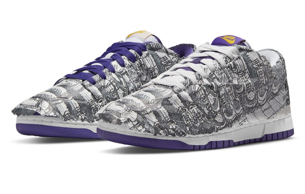 Nike Dunk Low Flip The Old School White/Varsity Purple/Black/University Gold