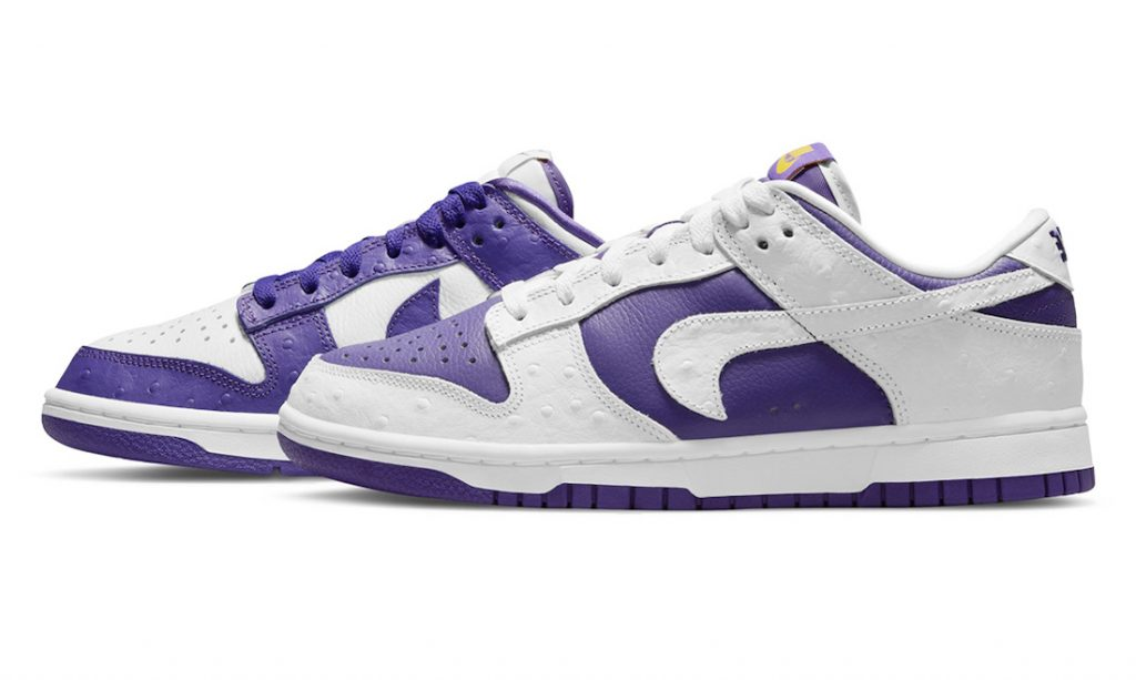 Dunk Low White/Varsity Purple/Black/University Gold