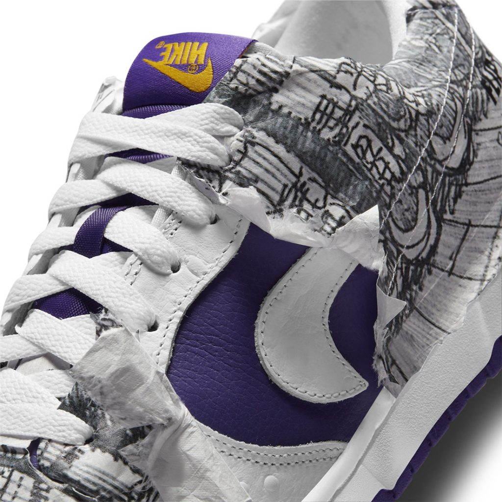 Nike Dunk Low White/Varsity Purple/Black/University Gold