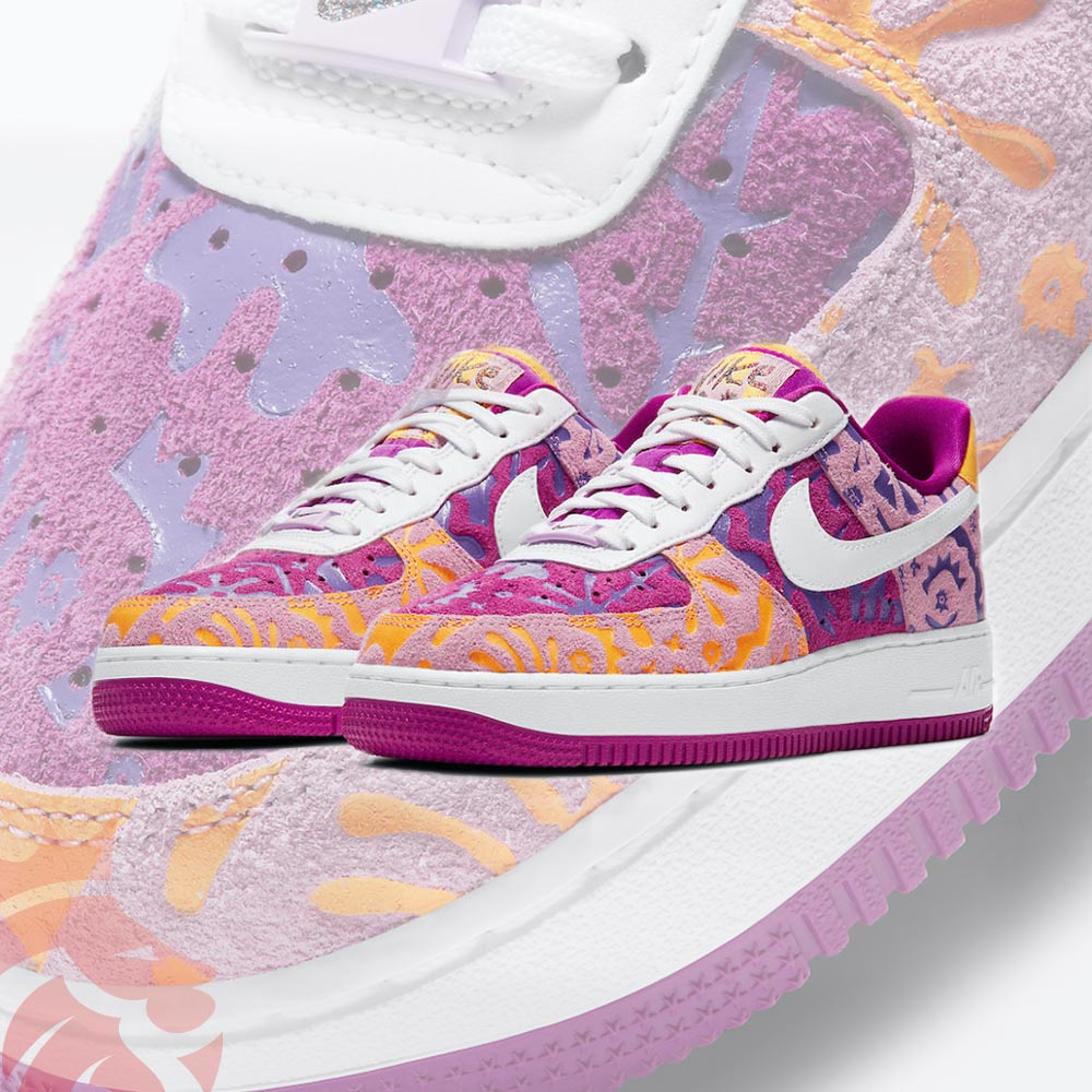 Nike Air Force 1 07 LV8 DD5516-584 Red Plum/Light Arctic Pink/Wild Violet/White